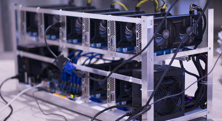 A mining farm for cryptocurrency.
