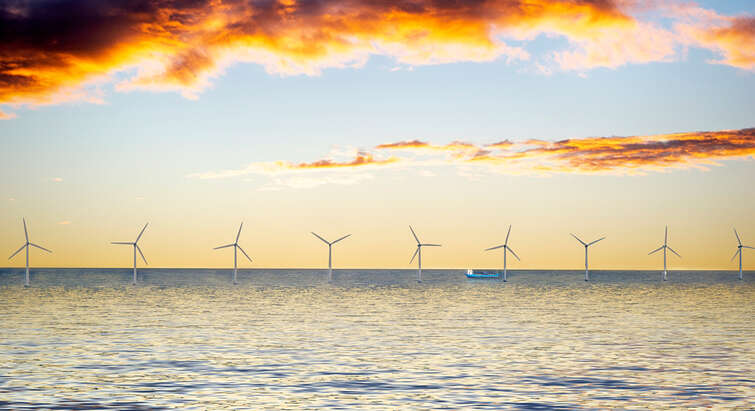 Picture of an offshore wind park